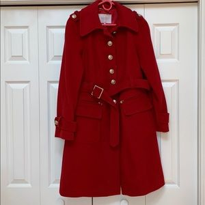 Red laundry coat size 8